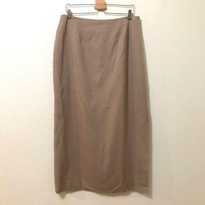 Fully lined professional maxi length skirt slit